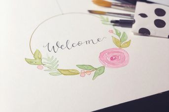 Handlettering & Watercolor in der Kunstwerkstatt Omumi